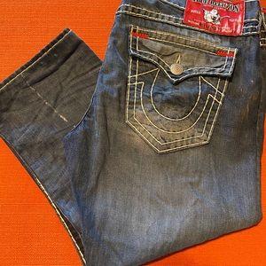 True Religion Men Distressed Jeans Size 42*26